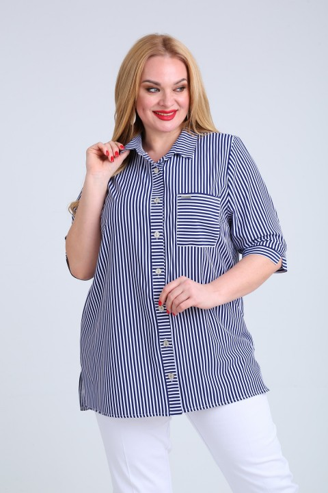 Блузка MammaModa М-20 голубая полоска
