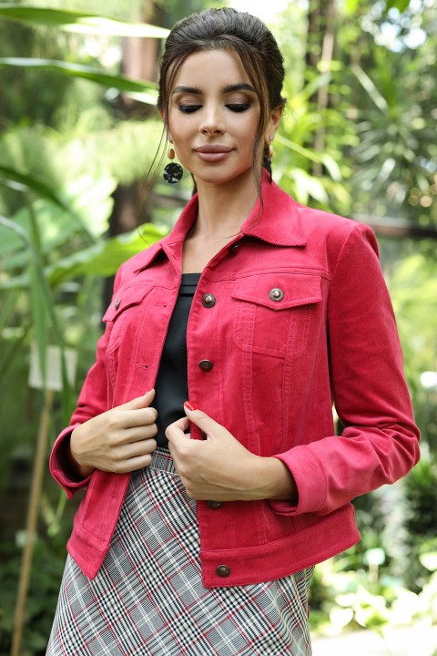 Куртка Мода-Юрс 2400к  малиновый