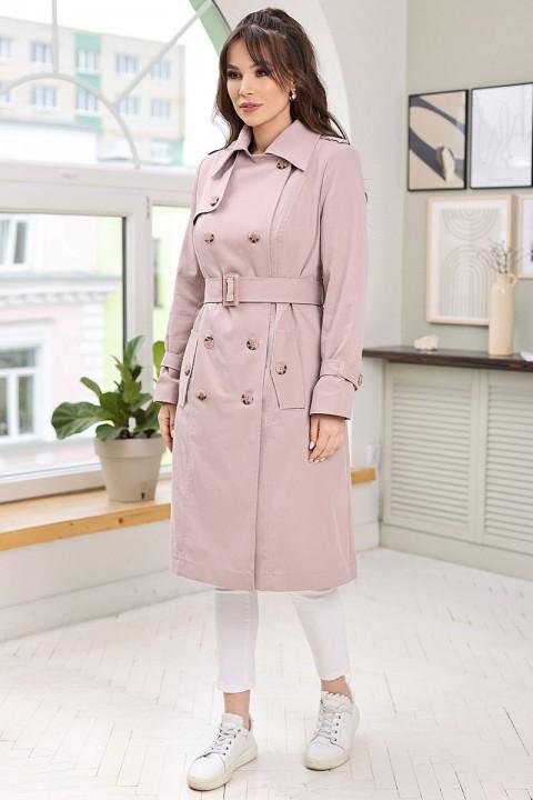 Плащ Мода-Юрс 2661 пыльный розовый