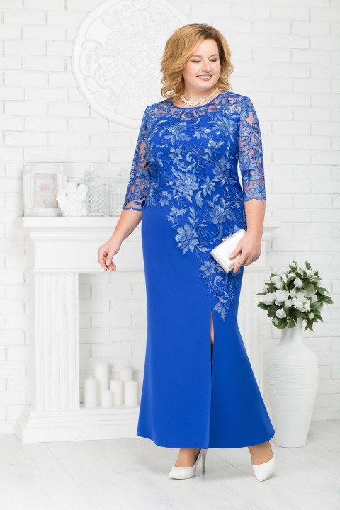Платье Ninele 5661 василек