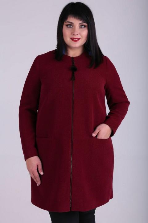 Пальто Новелла Шарм 3583-3 бордовый