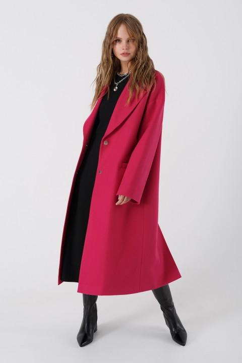 Пальто Pirs 3408 ярко-розовый