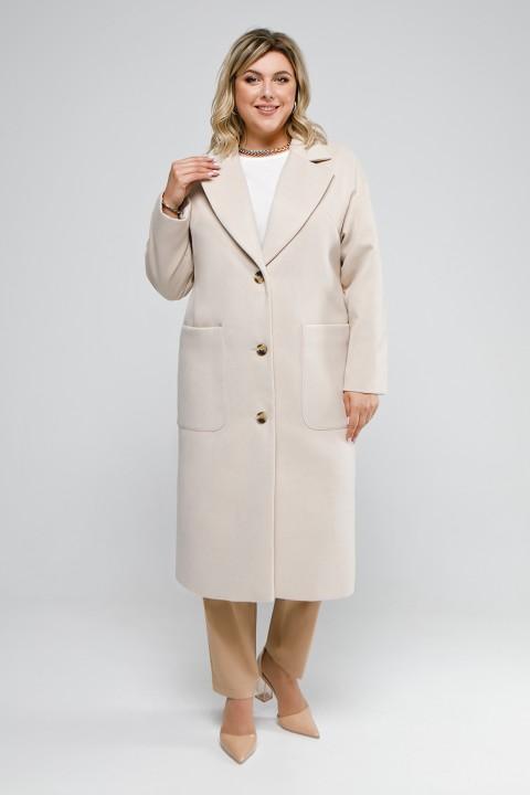 Пальто Pretty 1932 бежевый однотон