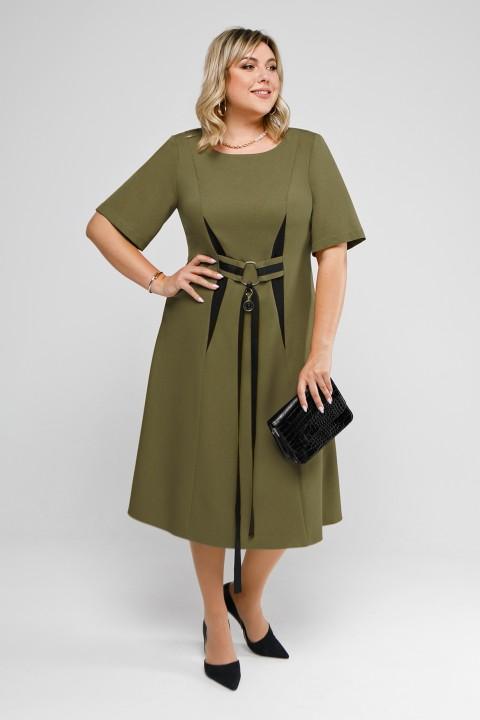 Платье Pretty 2028 оливка