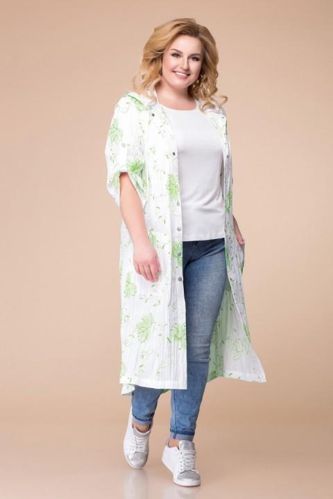 Кардиган Romanovich Style 9-1646 белый\зелень