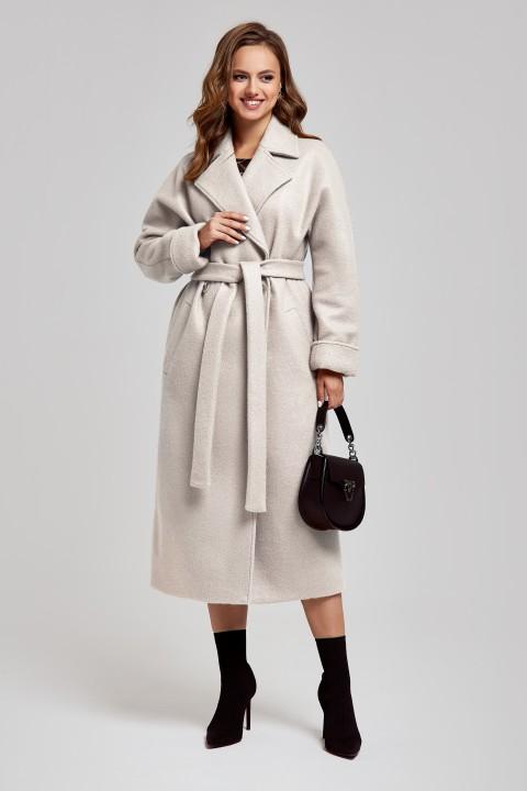 Пальто SandyNa 130604 : серо-жемчужный
