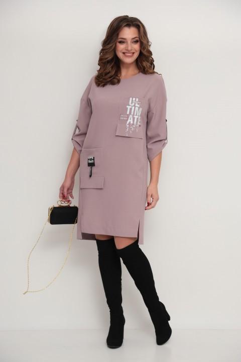 Платье TAITA PLUS 2133/4 пудра