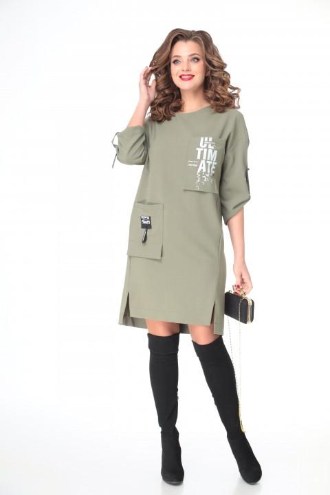 Платье TAITA PLUS 2133/5 хаки