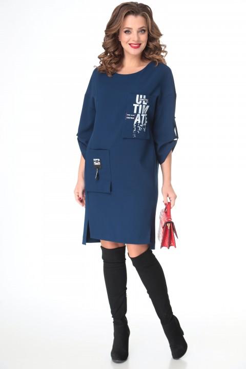 Платье TAITA PLUS 2133/6 темно-синий