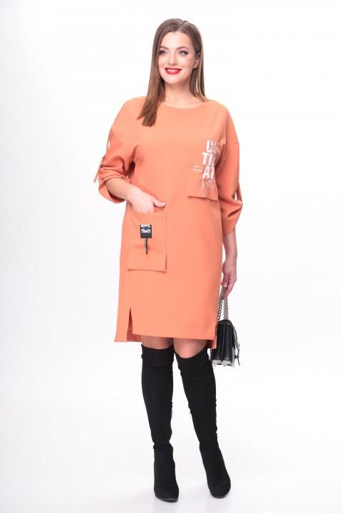 Платье TAITA PLUS 2133/8 терракот