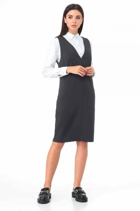 Сарафан Talia Fashion 365 серый