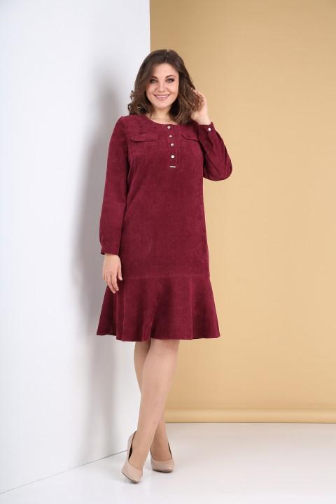 Платье Тэнси 319 марсала