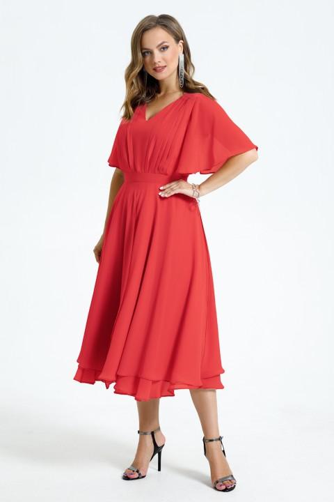 Платье TEZA 1455 коралл