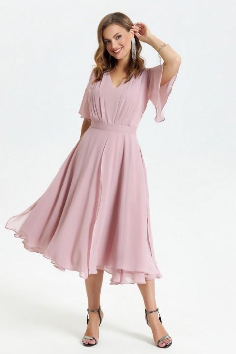 Платье TEZA 1455 пыльно-розовый