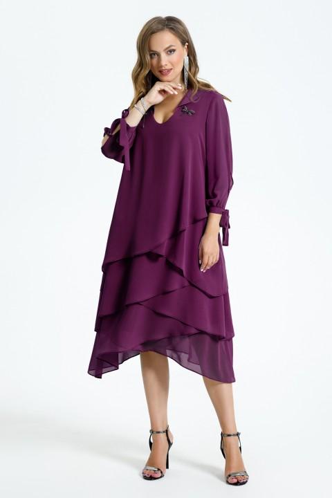 Платье TEZA 1461 фиолетовый
