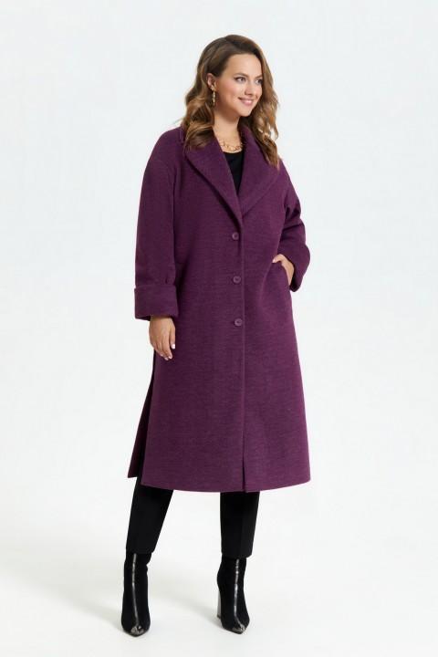 Пальто TEZA 2672 баклажан