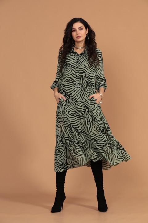 Платье Твой Имидж 1425 зеленый
