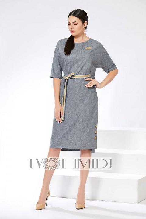 Платье Твой Имидж 1118 серый
