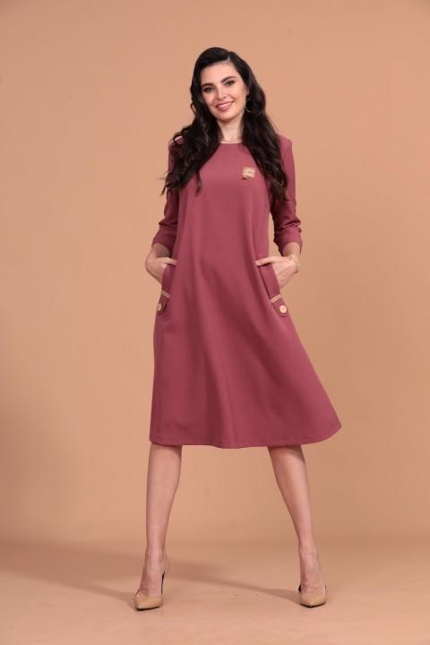 Платье Твой Имидж 1409 брусника