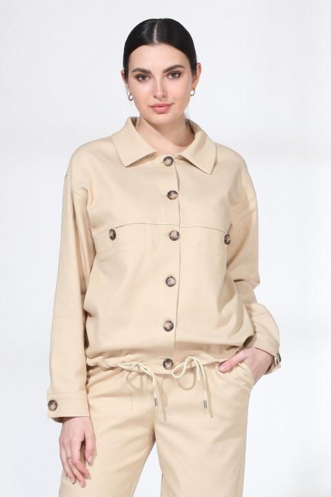 Куртка Viola Style 6030 бежевый