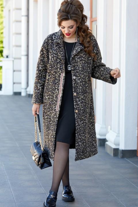Пальто Vittoria Queen 14363 диз.леопард