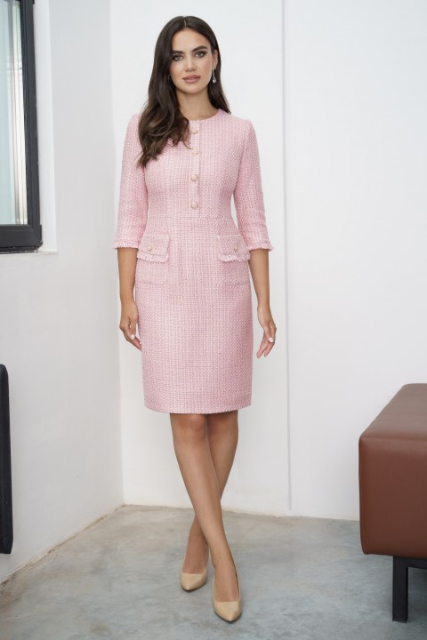 Платье Юрс 21-918-1 розовый