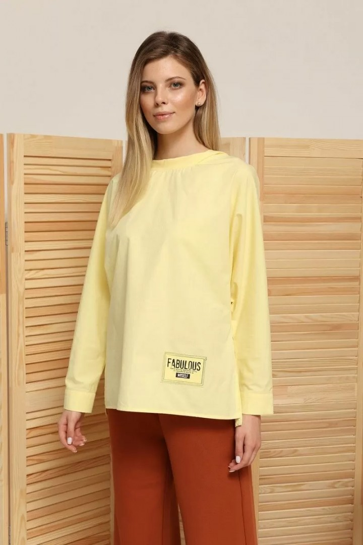 Рубашка AmberA 144 лимон