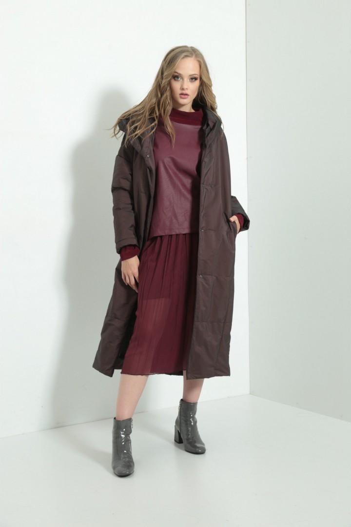 Пальто Amori  2108 бордо