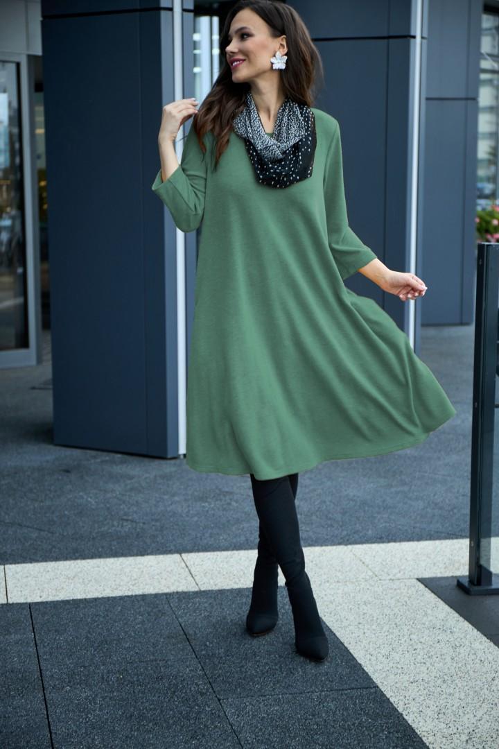 Платье Anastasia 495 мятно-зеленый + шарфик