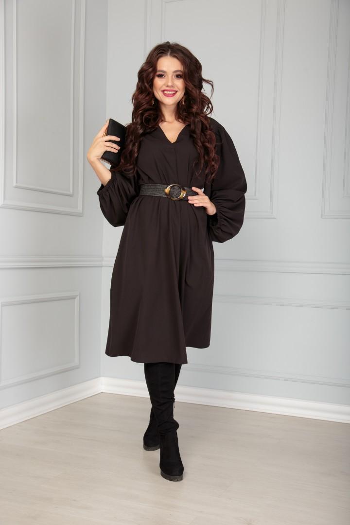 Платье Anastasia 517 черный + ремень