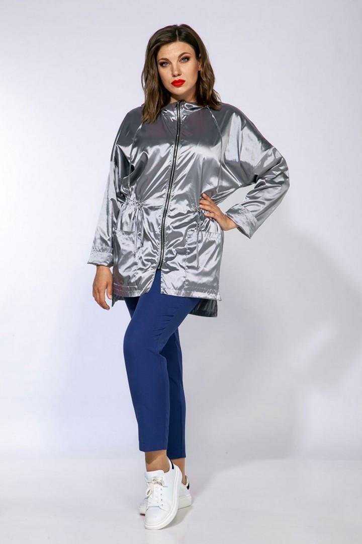 Куртка AnastasiaMAK 876 серебряный