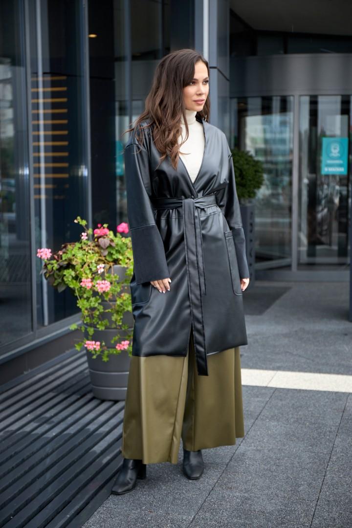 Пальто AnastasiaMAK 929 черный