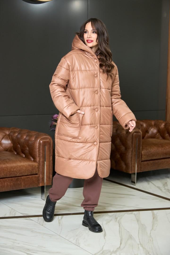 Пальто AnastasiaMAK 936 коричневый