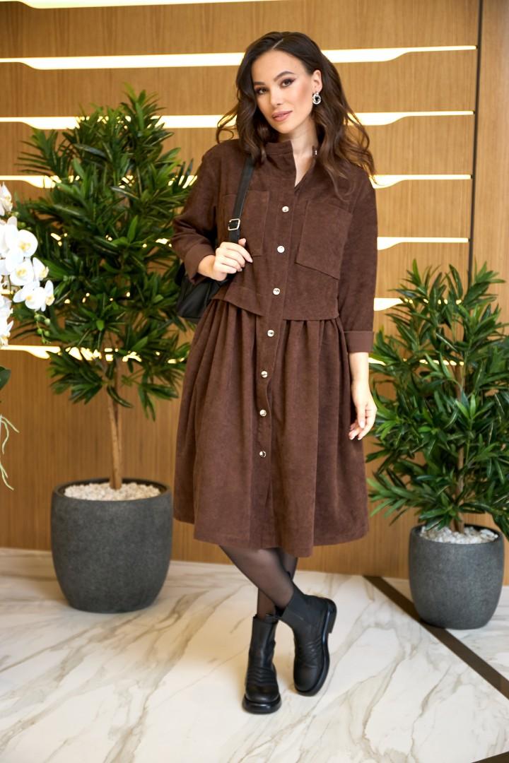Платье AnastasiaMAK 938 коричневый