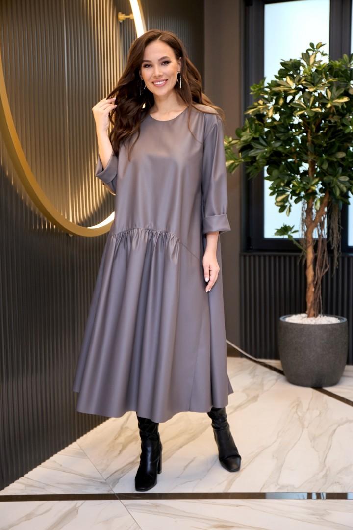 Платье AnastasiaMAK 942 серый