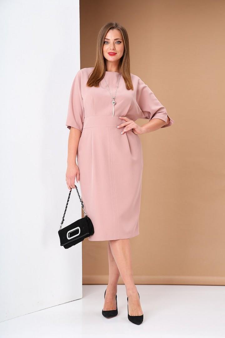 Платье AndreaStyle 0383 розовый
