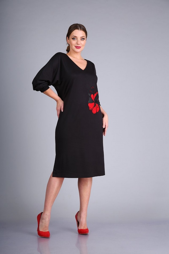 Платье AndreaStyle 0423 черный