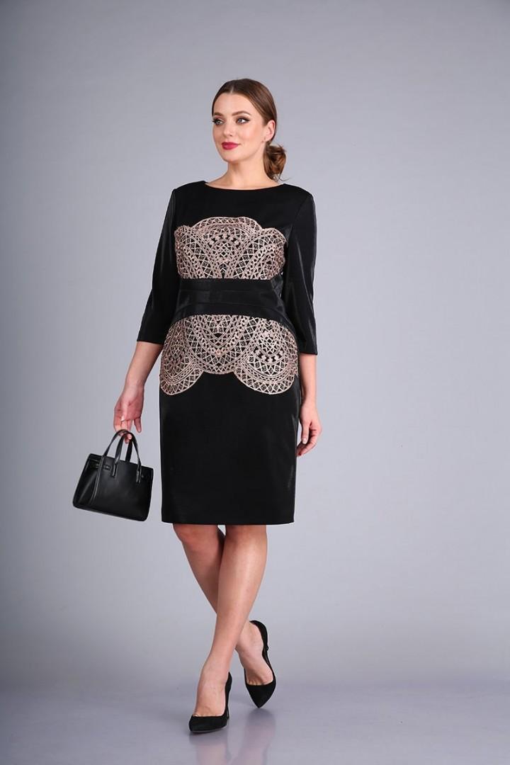 Платье AndreaStyle 0424 черный