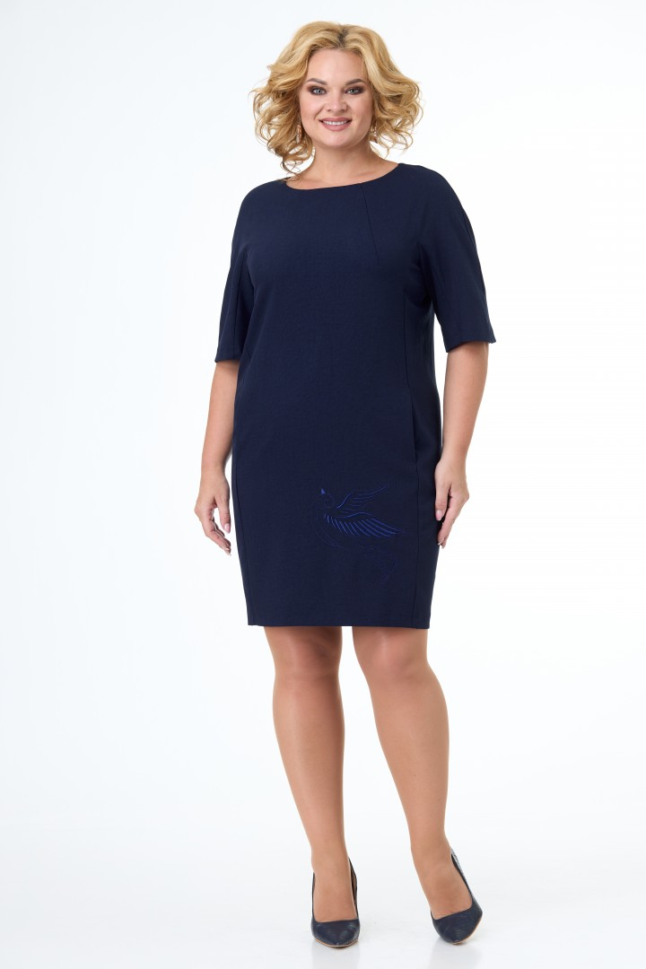 Платье Anelli 351 синий-1