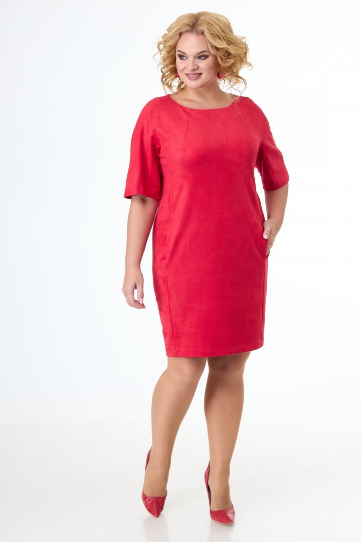 Платье Anelli 353 красный