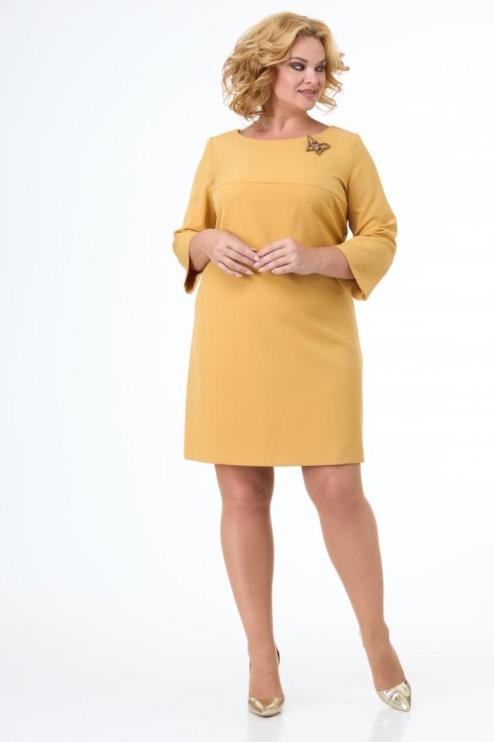 Платье Anelli 376 горчица