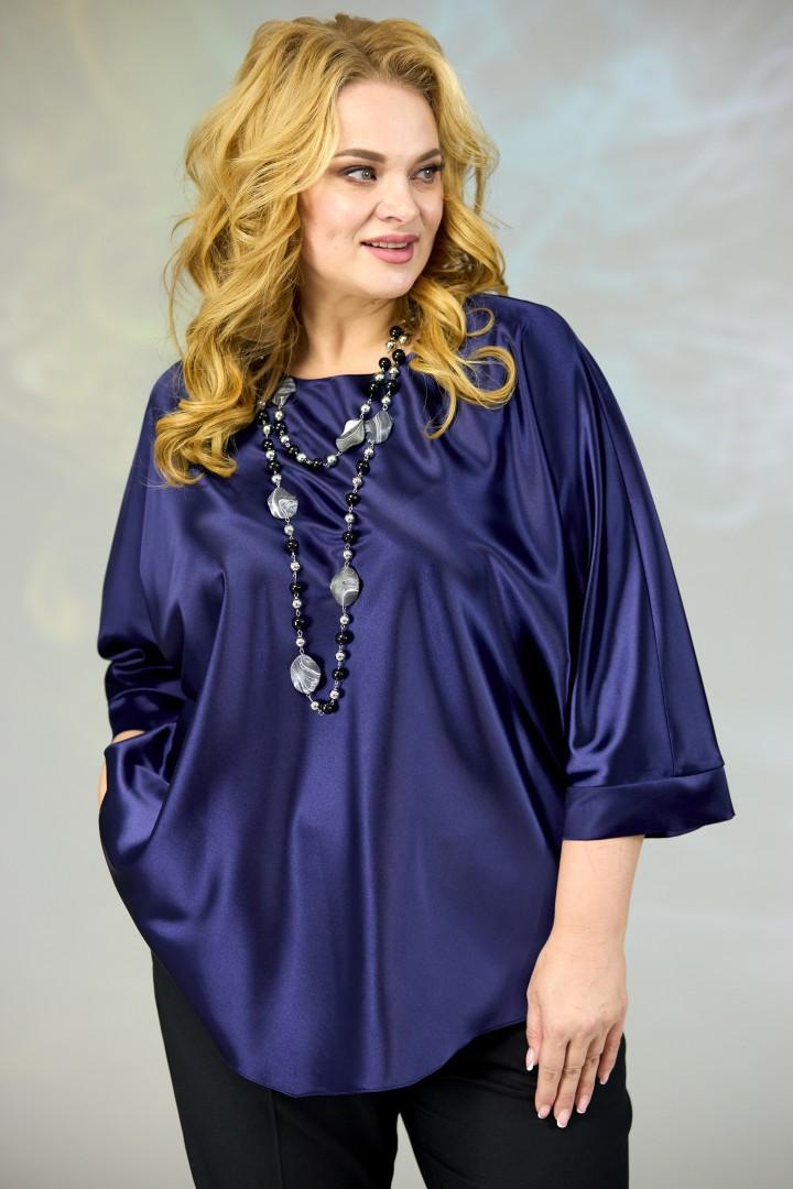Блузка Angelina & Company 591тс т.синий
