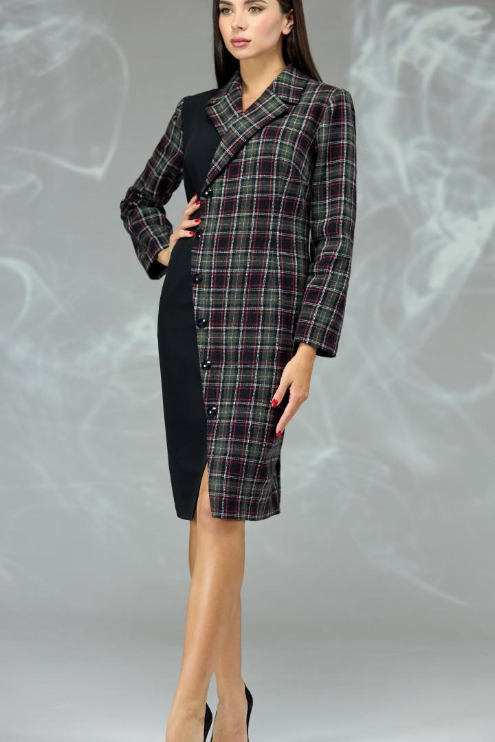 Платье Angelina & Company 599z зеленая клетка