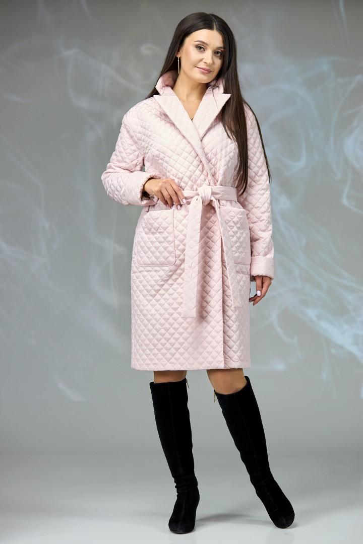 Пальто Angelina & Company 608п пудра стеганка