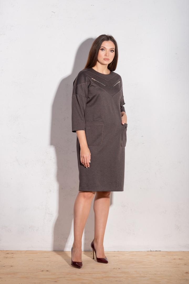 Платье Angelina 634 шоколад