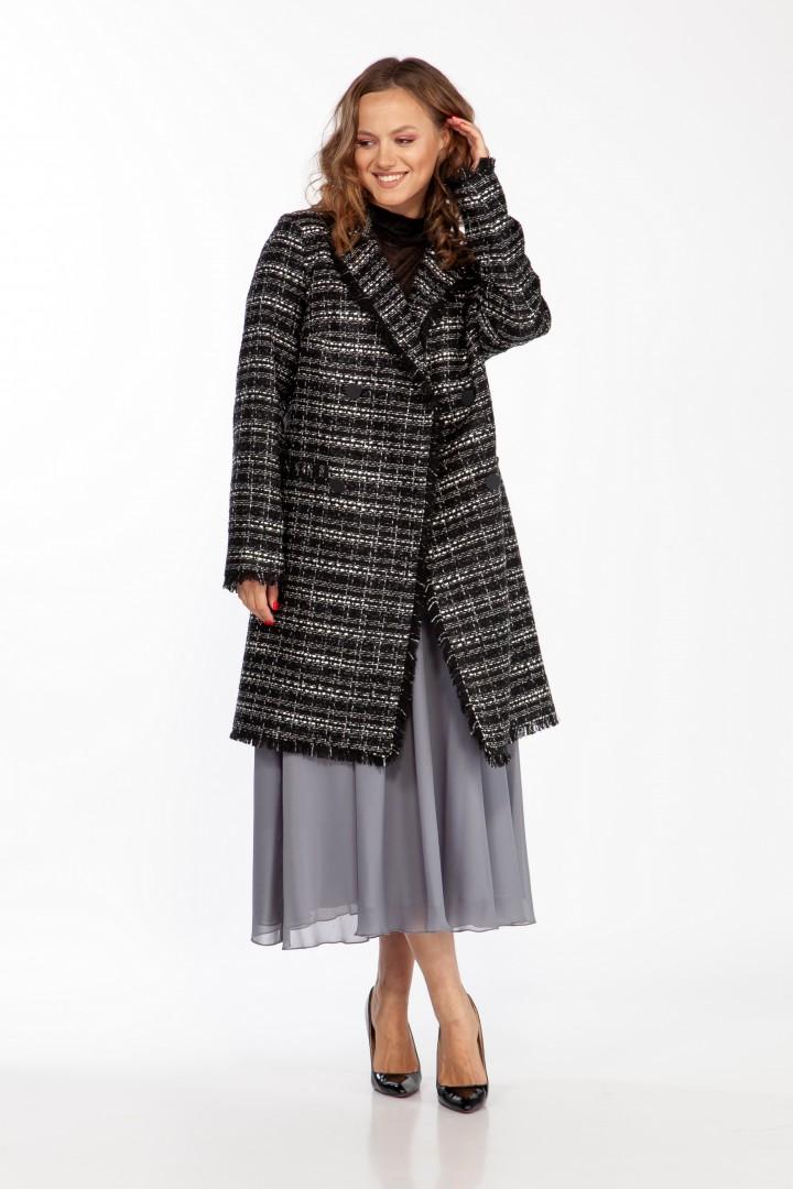 Жакет-пальто Anna Majewska 1463.1 черно-белый