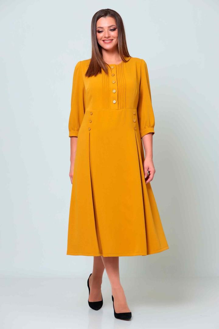 Платье Асолия 2538 горчица