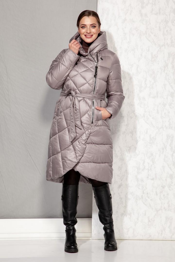 Пальто Beautiful&Free 4068 серо-бежевый