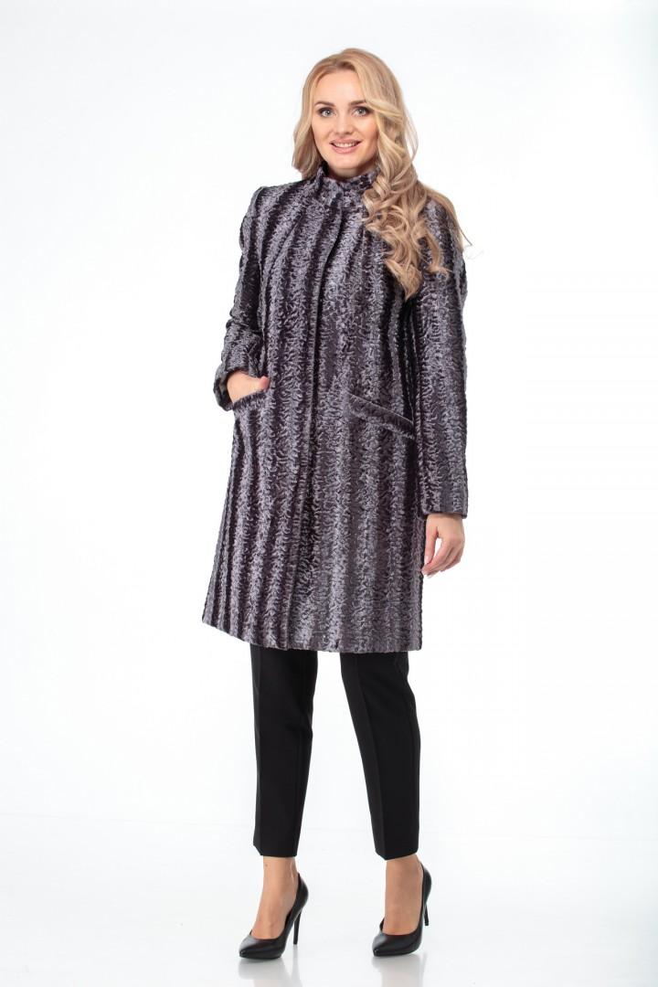 Пальто БелЭльСтиль 786 серый каракуль