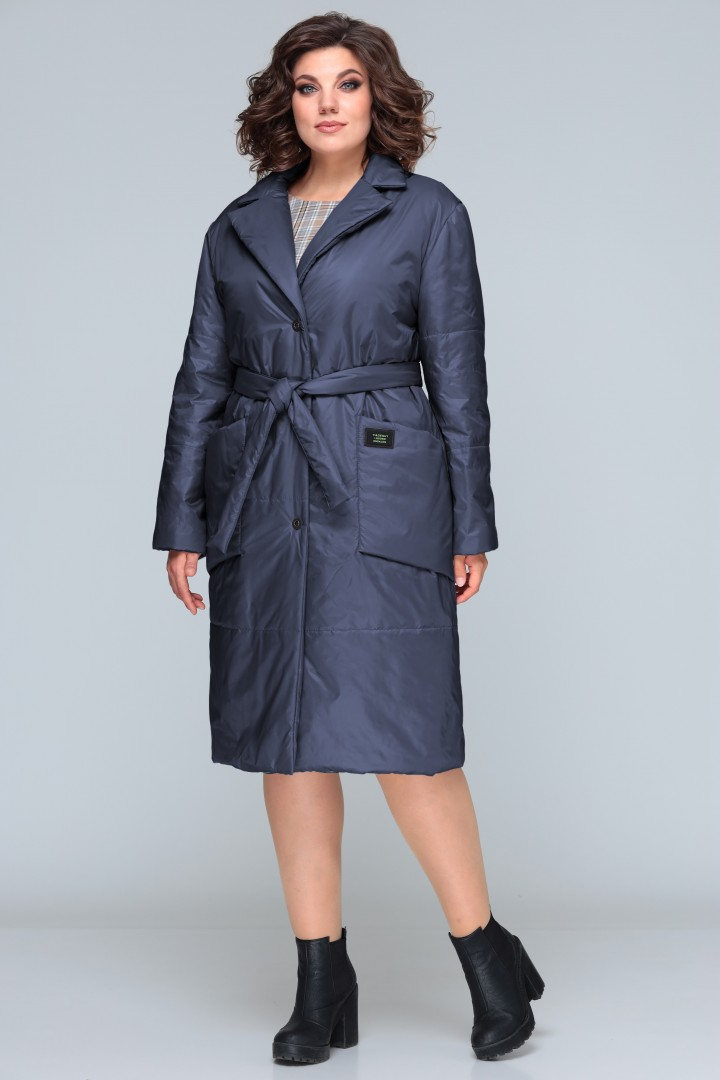 Пальто BonnaImage 606 синий